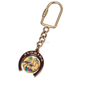 Quality Souvenir Carabiner Keychain Epoxy Flamingo Spinning Keyring Metal Florida State Keychain for Multiple Keys