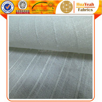 100 polyester white striped sheer plain beige linen curtain fabric