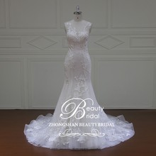 XF16040 tulle mermaid guangzhou wedding dress factory,floor length cheap very simple wedding dress