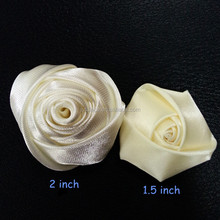 Mini satin Rosette Lapel Pin Flower Boutonniere Men's - handmade ribbon fabric rose hair accessories craft flower
