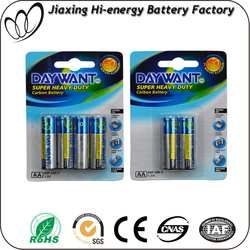 Super market zinc carbon 1.5 volt aa R6 um3 battery for flashlights