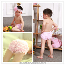 Newborn toddler ruffle infant shorts petti lace panties baby lace bloomer