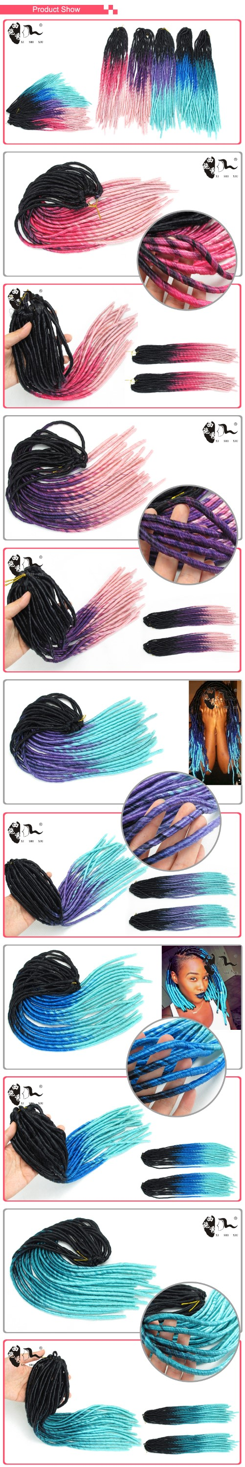 2016 new fashion! high quality cheap synthetic hair dreadlocks