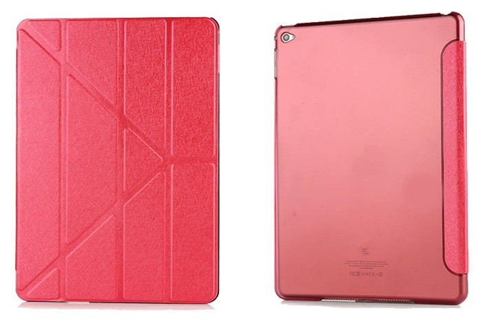 Retail Leather case for ipad air PU Folding Stand silk leather case for ipad air