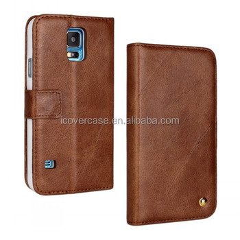 high quality genuine leather case for Samsung Galaxy S5