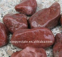 Dark Red Pebbles Paving Stone