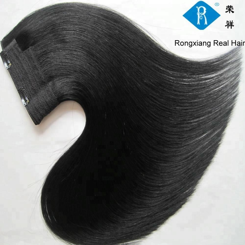 Best juancheng <strong>hair</strong> factory wholesale natural human <strong>hair</strong> double drawn one piece clip <strong>hair</strong> extension