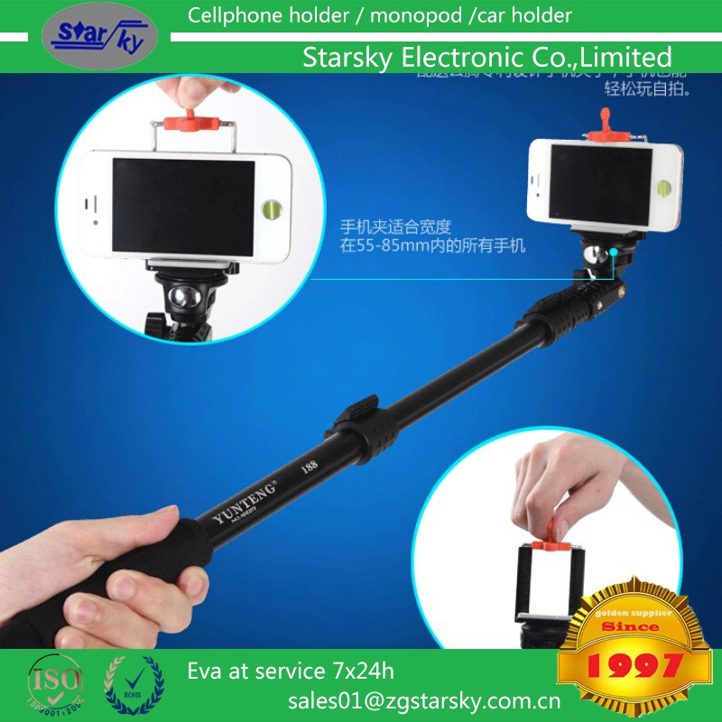 yunteng 188# selfie monopod Portable Handheld cartoon selfie stick, cute cartoon monopd for christmas gift