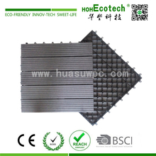 Hot Selling Garden Swimming pool decoration wpc interlocking decking tiles outside waterproof wpc flooring tiles
