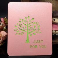 Customer made luxury design happy birthday greeting card HK68