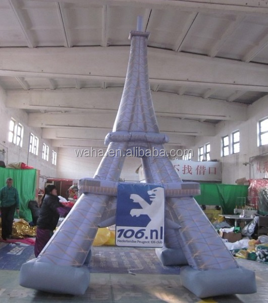 Custom inflatable Eiffel Tower for advertsing/promotion/event/party decoration/exhibition/trade inflatable Eiffel model W857