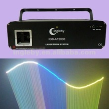 laser light 1.2 w rgb full colors animation laser show system
