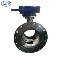 China High Quality Stainless Steel Gear Operated Welding Segment Trunnion Ball Valve