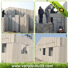 tongue and groove prefabricated house eps sandwich panel