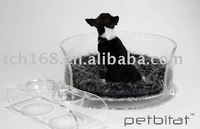 Clear cute acrylic pet beds /Plastic Pet Bed with cushion