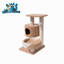 Indoor Outdoor Foam Wooden Pet Cat Furniture Scratcher House Toys