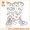 Rhinestone chains for high heel shoes boots decoration