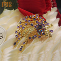 china wholesale vintage style brooch women's gold brooches pins for wedding