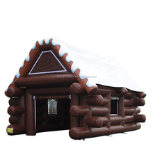 Holiday Time inflatable log cabin tent house tent Christmas Inflatable with blower