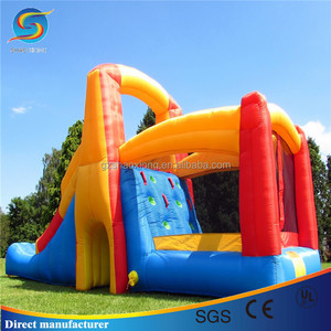 Giant Inflatable Bouncer Castle With Long Water Slide For Jumping For Hot Sale