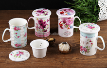 Promotion mug fine porcelain mug with lid china porcelain coffee mug with lid tea cup