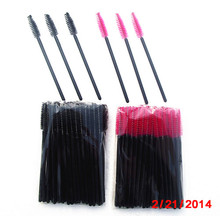 wholesale new desigh disposable fashion colorful mascara brush wand applicator brush with private label