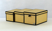 Kraft Paper 3pcs Document storage File box