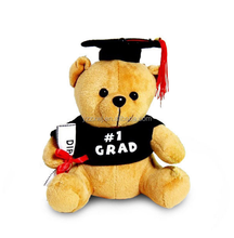 free sample graduation bear brown graduation teddy bear Plush Soft Teddy Bear For Graduation Souvenir
