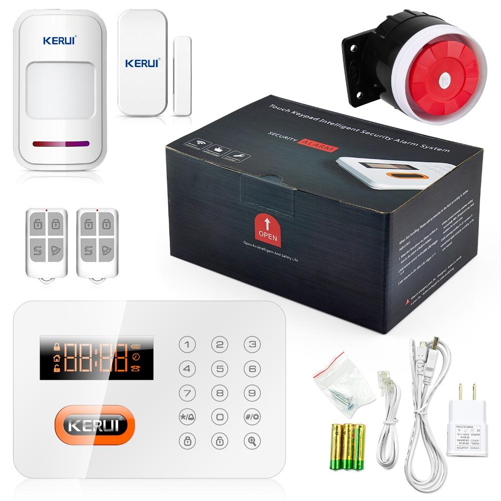 Kerui Intelligent Smart Home Alarme 120 Wireless zone Touch PSTN Keypads Burglar Live Telephone Alarm Security System