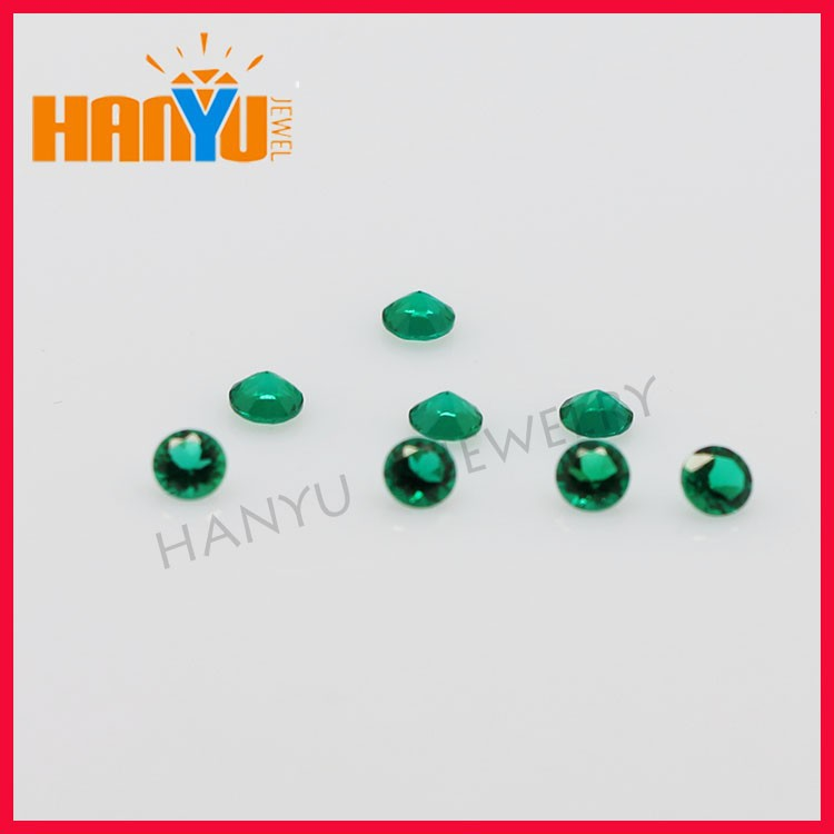 Wholesale Low Round Created Stone Emerald Stone Price Per Carat
