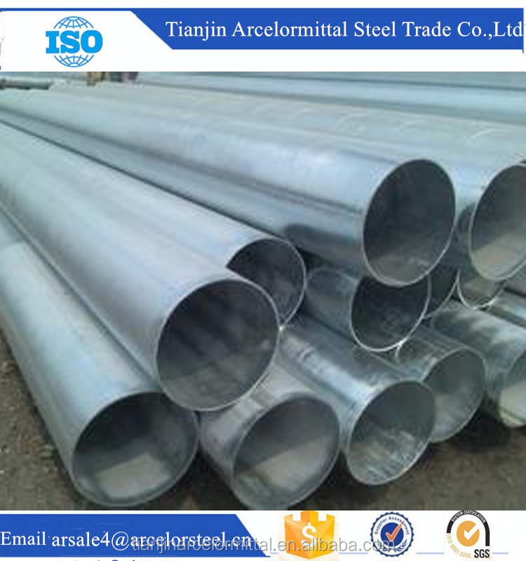Alibaba Website Hot Dip Round Galvanized Steel Pipe and Tube for Trailer Building Raw Materials