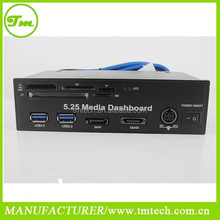 5.25 Inch USB 3.0 PC Front Panel Media Dashboard Card Reader HUB SATA PCIE PCE-E