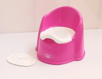 Detachable plastic baby potty with lid, plastic four color baby potty, plastic chamber pot