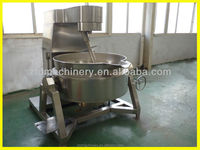 Jacket Kettle For Jam Gas Steam Jacketed Kettle With Mixer Jacketed Kettle Vessel