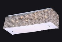 Silver color crystal ceiling Lighting OM415+L73cm,W20cm,H21cm+iron fixture