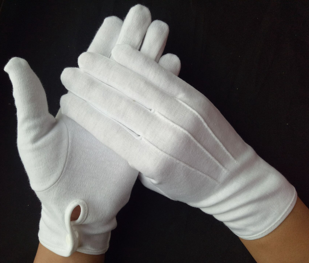 cotton spa moisture gloves white