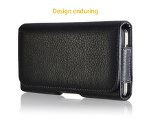 Universal Leather Belt Clip Flip Waist Case Holster Leather Pouch For iPhone 8 pouch case