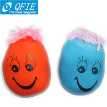 Hot selling 3cm 4.5cm rubber soft smile moody face stress ball toy for kids