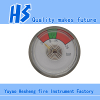 23mm Pressure Gauge for fire extinguisher bourdon tube pressure gauge Spring Tube pressure gauge