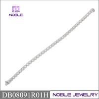18K white gold jewelry 8.0 carat round diamond tennis bracelet