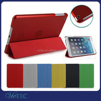 Hot Sale Smart Folding Leather Case For iPad Mini Transparent Back Cover