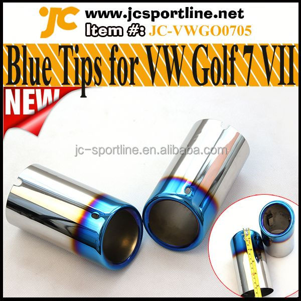 Blue MK7 Tail Tips,Oval Exhaust Pipes For Volkswagen VW Golf 7 VII MK7,Beetle