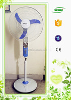 16 to 18inch popular design battery operated fan stand fan 12v rechargeable emergency fan with light