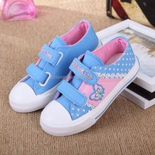KS40385S European style cute lovely pattern design kids canvas shoes