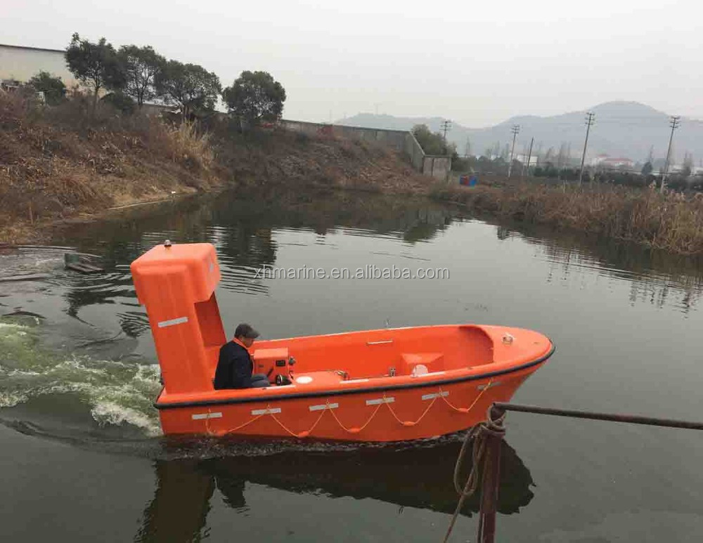 SOLAS approval 6persons rescue boat with 23KN Single Arm Gravity Davit