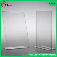 Acrylic Slanted Sign Holders with Business Card Holder