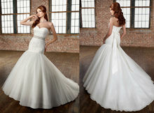 WD1406 new model sweetheart neckline ruched bodice removable beaded organza sash tie bow at back latest net dress designs 2012