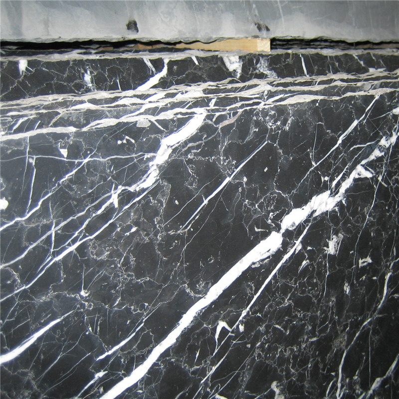 China Nero Marquina Marble Stone,black marble tile with white veins, Cut-To-Size