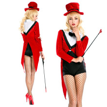 Factory hot sale the women magician tuxedo costume for Halloween Cosplay