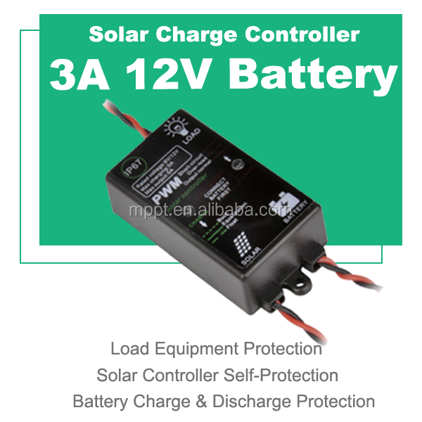 12v 3a solar charger controller mini waterproof IP67 for portable 12v solar charger SC1203